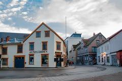 Tromse, Noorwegen Aunegardenrestaurant stock fotografie