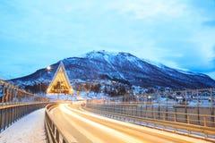 Tromso北极大教堂 免版税库存图片