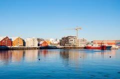 Tromso江边 免版税库存照片
