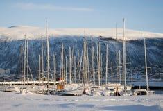 Tromso的海滨广场,挪威 库存图片
