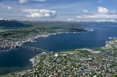 tromso πόλεων Στοκ Φωτογραφίες