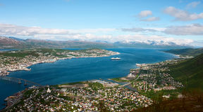 Tromso. Aerial view of Tromso, Norway Royalty Free Stock Images