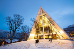 Tromso Arctic Cathedral Norway Royalty Free Stock Images