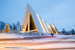 Tromso Arctic Cathedral Norway Stock Image