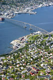 Tromso Brücke stockfotos
