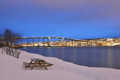 Tromso Bridge Royalty Free Stock Images
