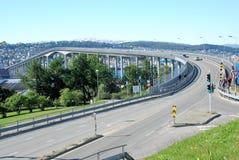 Tromso Bridge, landmarks of Tromso, impressive road bridge Stock Image