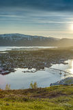 The Tromso Bridge in Norway. Royalty Free Stock Photo