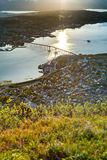 The Tromso Bridge in Norway. Royalty Free Stock Photos