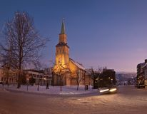 The Tromso Cathedral royalty free stock photography