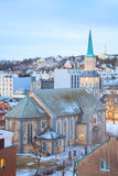 Tromso Cathedral Norway Royalty Free Stock Images