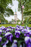 The Tromso Cathedral in Norway. Stock Images