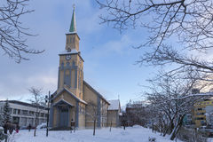 Tromso Cathedral Stock Photos
