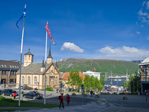 Tromso centre. The centre of Tromso city, northern Norway royalty free stock images