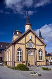 Tromso church. The catholic church of Tromso, Norway Royalty Free Stock Photo