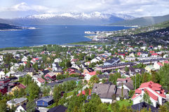 Tromso city aerial Royalty Free Stock Photos