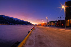 Tromso city at twilight Stock Photography