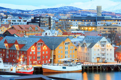 Tromso Cityscape Royalty Free Stock Photos