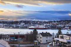 Tromso cityscape in Northern Norway. Stock Images