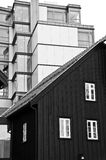 Tromso harbour houses, Norway Stock Photography