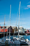 Tromso harbour, Norway Royalty Free Stock Photography