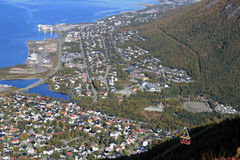 Tromso from the hill. A beautiful view of Tromso from the hill Royalty Free Stock Photography