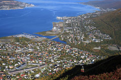Tromso from the hill. A beautiful view of Tromso from the hill Royalty Free Stock Photos