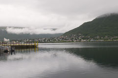 Tromso. landscape of Norwegian fjord. Royalty Free Stock Photos