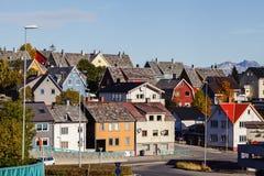 Tromso miasta budynki obrazy royalty free