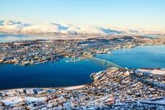 Tromso in Nord-Norwegen stockbild