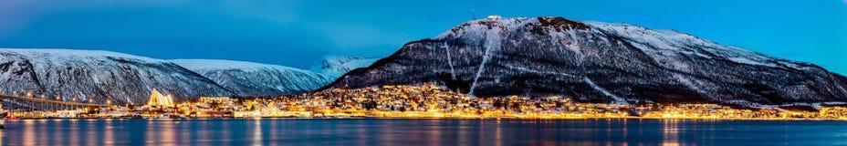 Tromso in Nord-Norwegen stockbilder