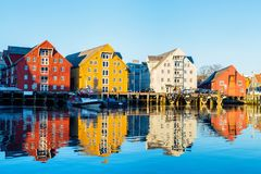 Tromso in Northern Norway Stock Photography