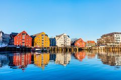 Tromso in Northern Norway. Beautiful town of Tromso in Northern Norway stock images