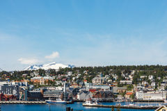 Tromso, Norway. A view on Tromso, Norway, taken from the Ice Cathedral Stock Photography