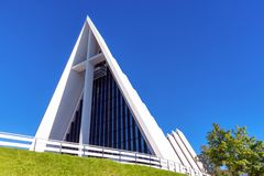 The Arctic Cathedral of Tromso, Norway royalty free stock photography