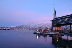 In Tromso Norwegen Stockbilder