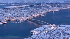 Tromso o do norte a maioria de cidade de Noruega fotografia de stock royalty free