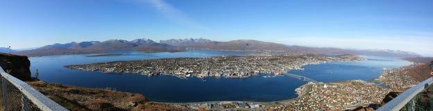 Tromso Panorama Stockbild
