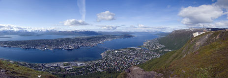 Tromso panorama stock photography