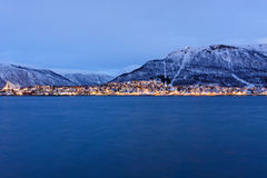 Tromso during the Polar night Royalty Free Stock Image