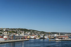 Tromso port Arkivfoto