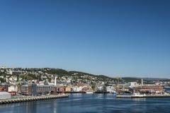 Tromso port. The port of Tromso, Norway in summer Stock Photo