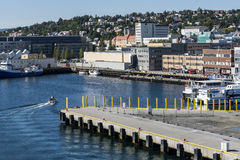Tromso port Stock Photo