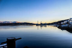 Tromso sea. A view from an abandon harbour in Tromso, Norway Stock Photo