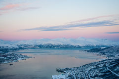 Tromso sunset Royalty Free Stock Photos
