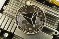 Tron é uma maneira moderna de troca e deste currenc cripto foto de stock royalty free
