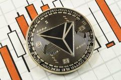 Tron é uma maneira moderna de troca e esta moeda cripto é imagem de stock