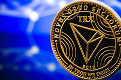 Tron altcoin cryptocurrency Stock Images