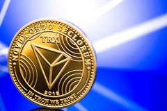 Tron altcoin cryptocurrency Stock Photos