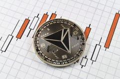 Tron est une manière moderne d'échange et de cette crypto devise photos libres de droits